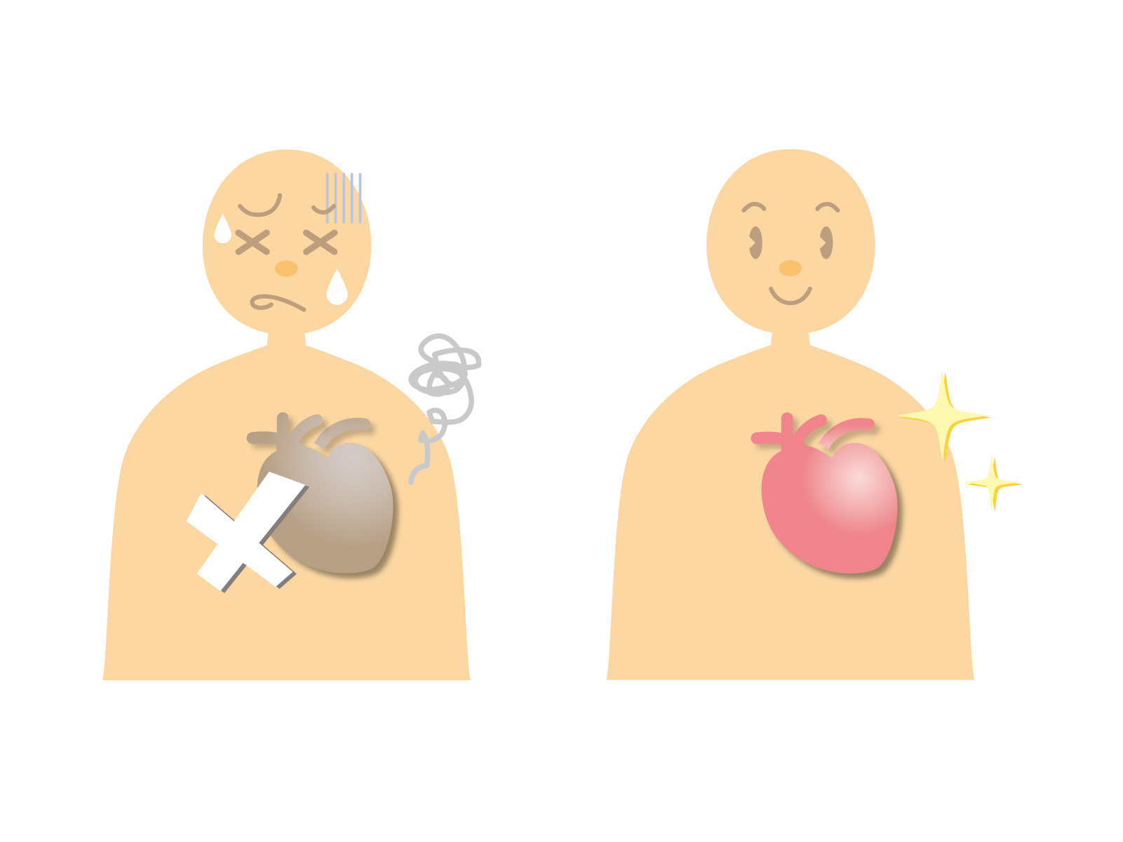 痛み の 左 胸 と 背中